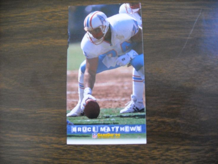 Bruce Matthews Houston Oilers Card No. 166 (FB166) Game Day '94 Fleer Football Card - for sale at Wenzel Thrifty Nickel ecrater store