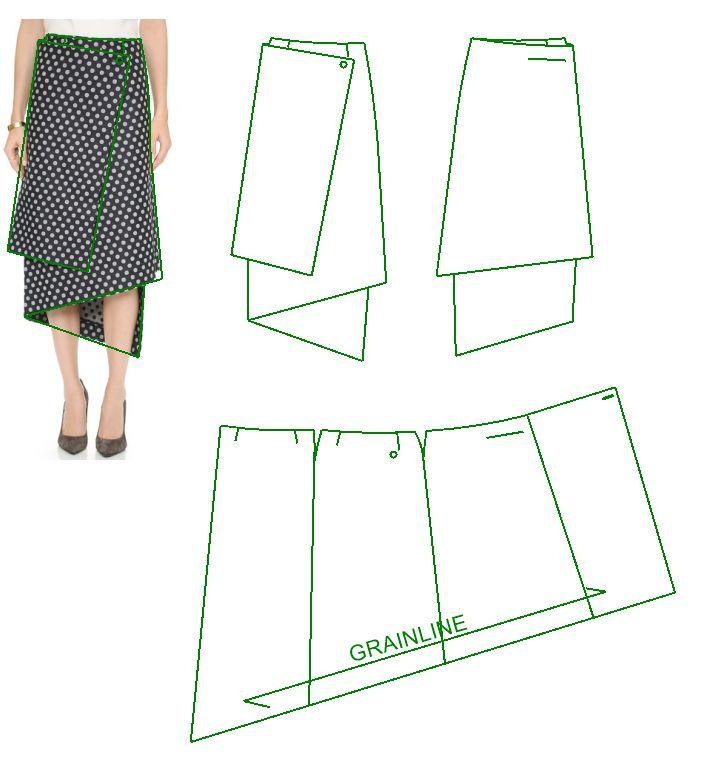 модные юбки и выкройки в картинках работа