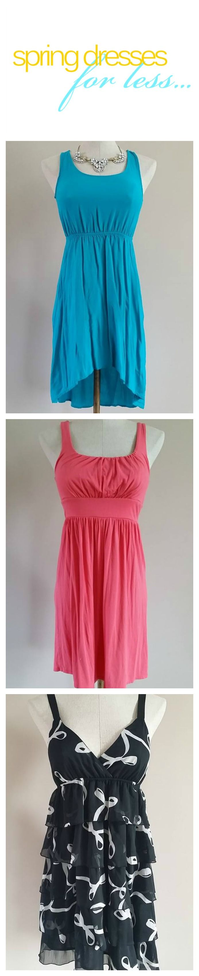Get beautiful Spring dresses for less at www.newdawnboutique.com! Isaac Mizrahi - Loft - Forever 21 - Old Navy Maxi Dresses - Hi-Low Dresses - Striped Dresses
