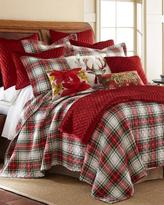 Mad For Plaid Luxury Quilt Bedding, Nina Campbell Holiday Bedding