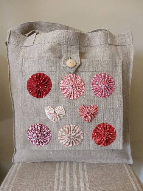 Linen bag with Yoyo's