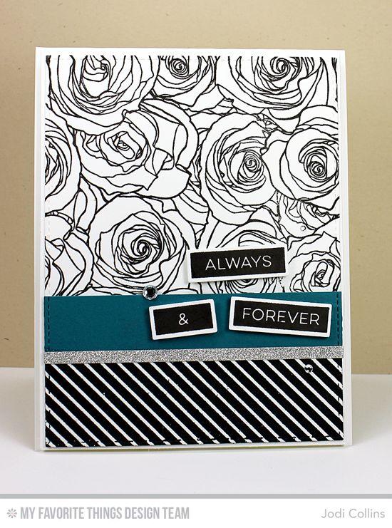 Roses All Over Background, Diagonal Stripes Background, Label Maker Love Stamp Set, Label Tape Die-namics, Blueprints 2 Die-namics, Blueprints 13 Die-namics - Jodi Collins #mftstamps