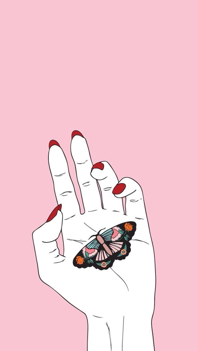 Image result for pink hands desktop background