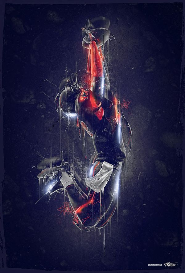 Football Poster | #design #football - original photo http://www.istockphoto.com/photo/american-football-player-catching-ball-silhouette-29082956