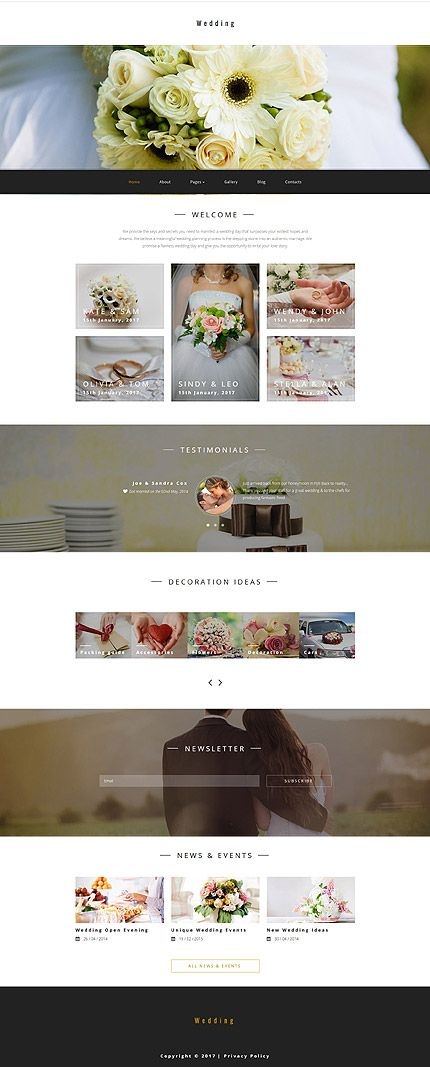 Last Added Wedding website inspirations at your coffee break? Browse for more Joomla #templates! // Regular price: $75 // Sources available: .PSD, .PHP #Last Added #Wedding #Joomla
