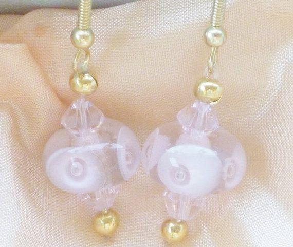 Lampwork Glass Earrings Custom Order by ChrysArtGlass on Etsy
