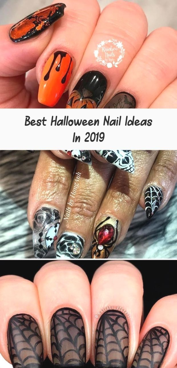 Best Halloween Nail Ideas In 2019 : Amazing coffin-shaped ...