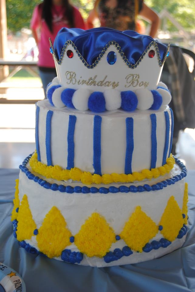 Prince Cake for a Princely Baby Boy! :)