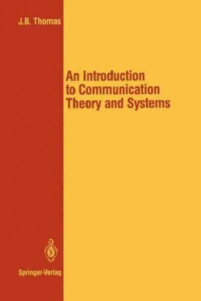 Introduction to Communication Theory and Systems