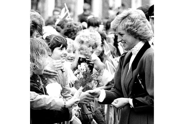 MEET AND GREET: Princess Diana shakes a hand among the crowd in Brigg town centre. Left, the princess planting the pear tree in Brigg, assisted by Councillor Violet Lockwood, the Mayor of Glanford.  Read more: http://legacy.thisisscunthorpe.co.uk/25th-anniversary-today-Princess-Diana-giving/story-18554997-detail/story.html#ixzz2vnn67QHq