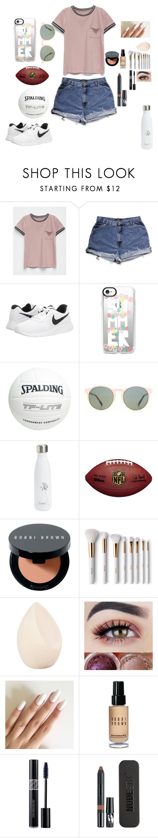 """""""Day 3:Sitting in the Park 🏞"""" by look-in-the-clouds ❤ liked on Polyvore featuring Full Tilt, NIKE, Casetify, Spalding, HOOK LDN, S'well, Bobbi Brown Cosmetics, Terre Mère, Christian Dior and Nudestix"""