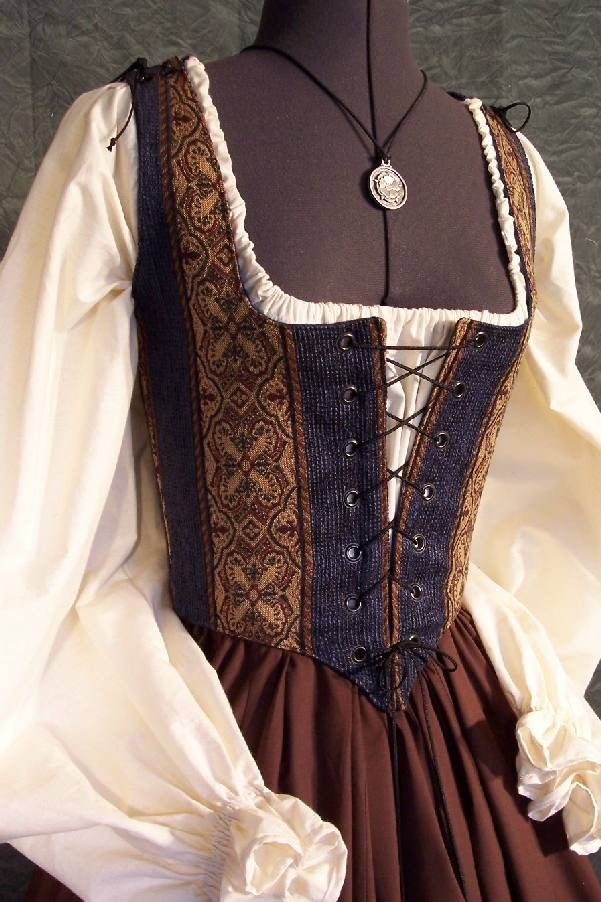 Renaissance Faire Maiden Wench Bodice Dress Gown by thewencheswardrobe on Etsy https://www.etsy.com/listing/9663065/renaissance-faire-maiden-wench-bodice