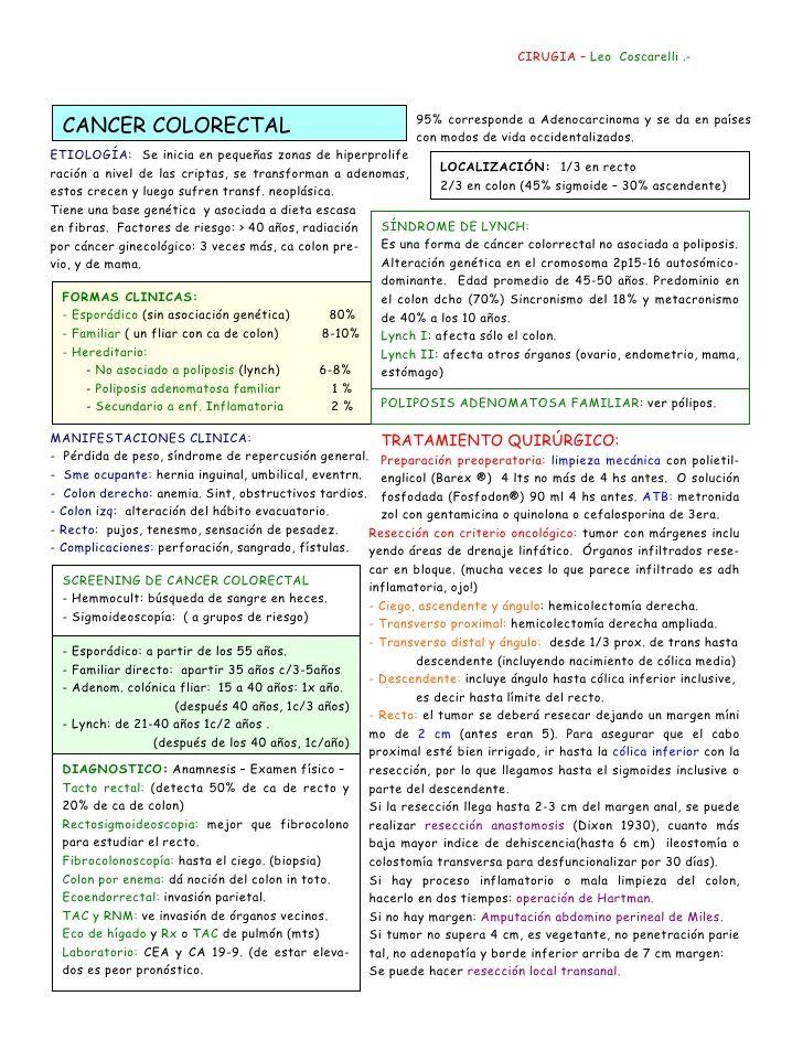 CIRUGIA – Leo Coscarelli .-                                                            95% corresponde a Adenocarcinoma y ...