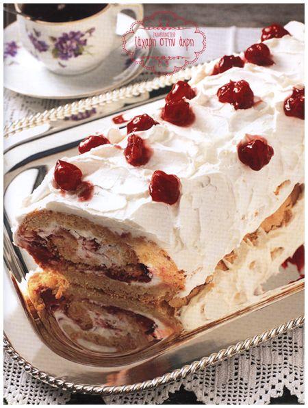 Ρολό με κρέμα γάλακτος ♥ ♥ Roll with cream