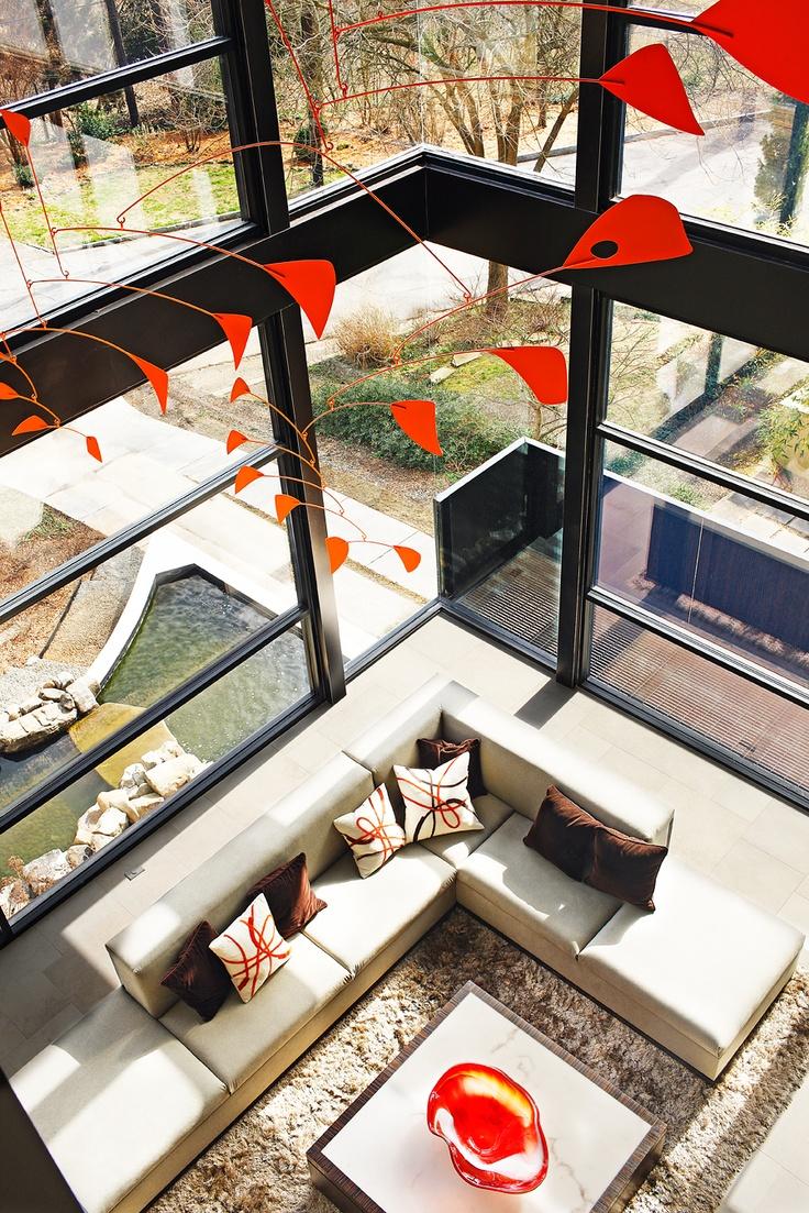 Living Room In Modern House Ansley Neighborhood