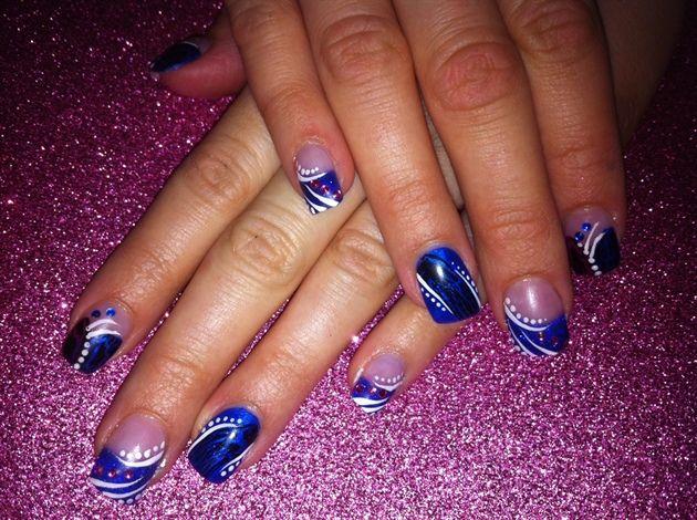 royal blue by jpotoma - Nail Art Gallery #nailart
