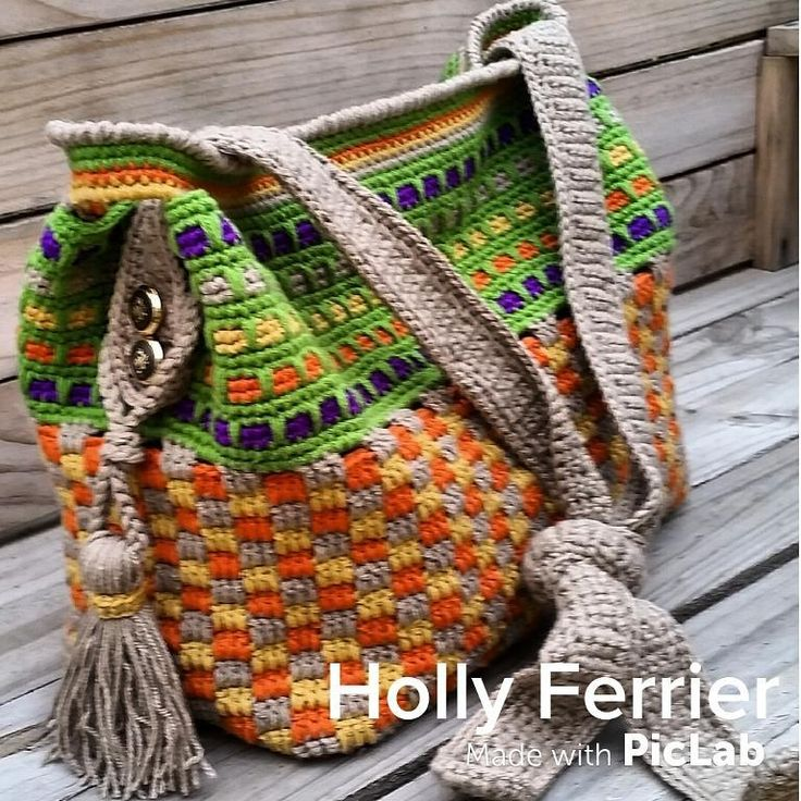 (4) Name: 'Crocheting : Tuscany Tote