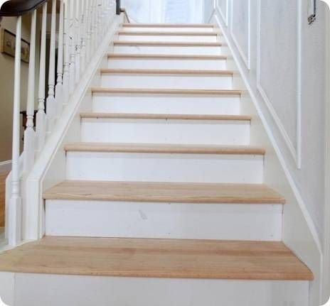 Best The Risers And The Treads Diy Hardwood Stairs Redo 400 x 300