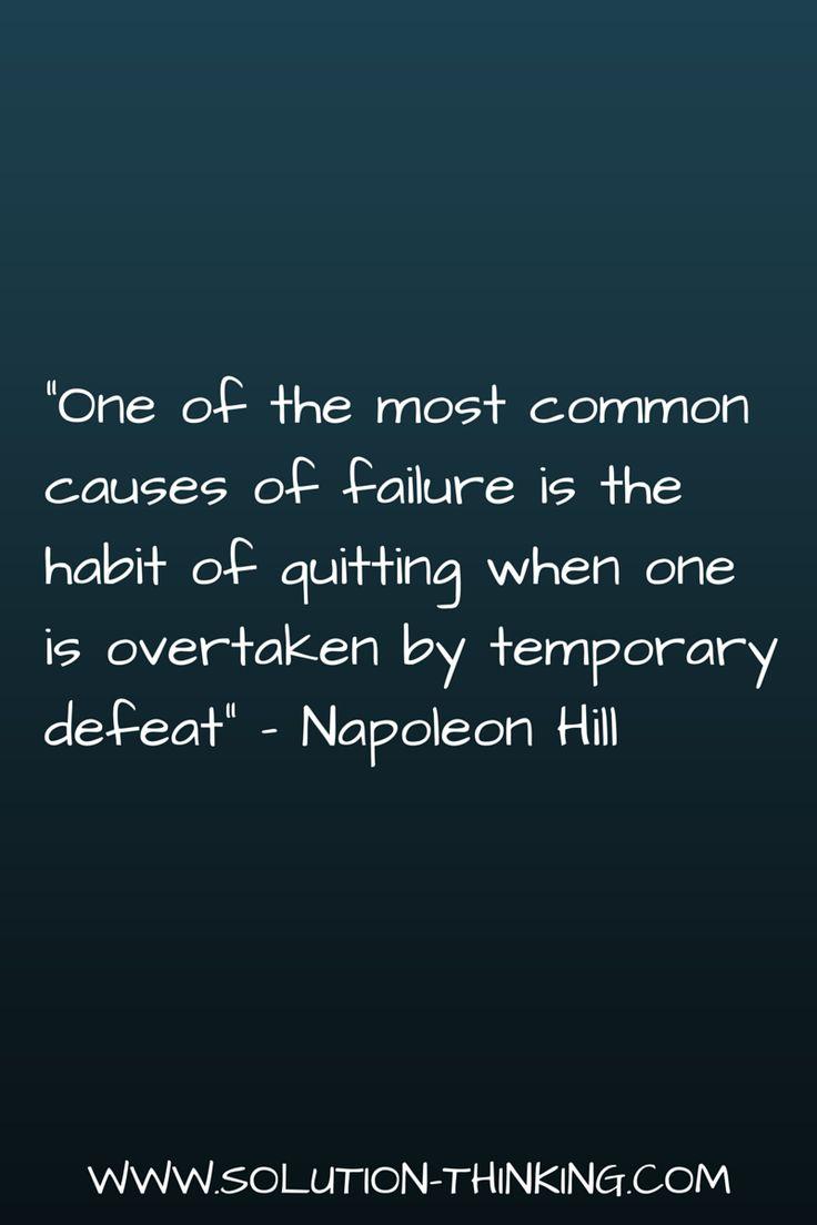 How to handle setbacks.