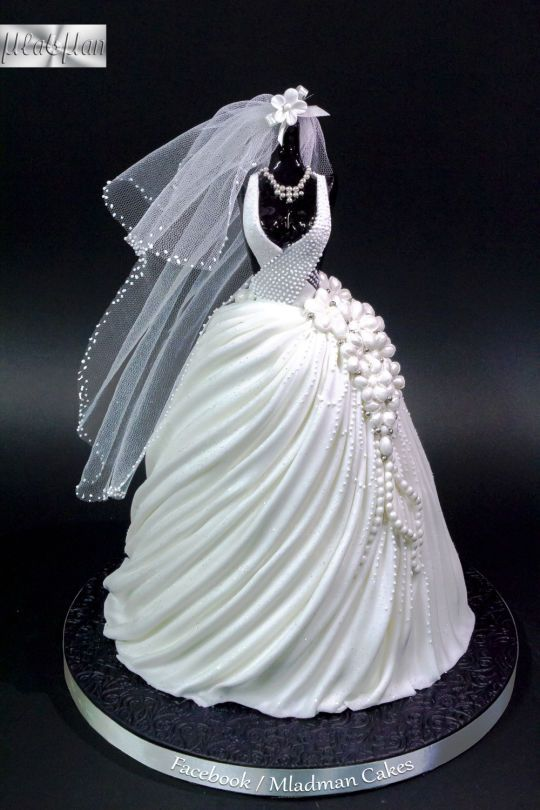 348 best images about cake design dresses pearls for Wedding dresses with pearls and diamonds