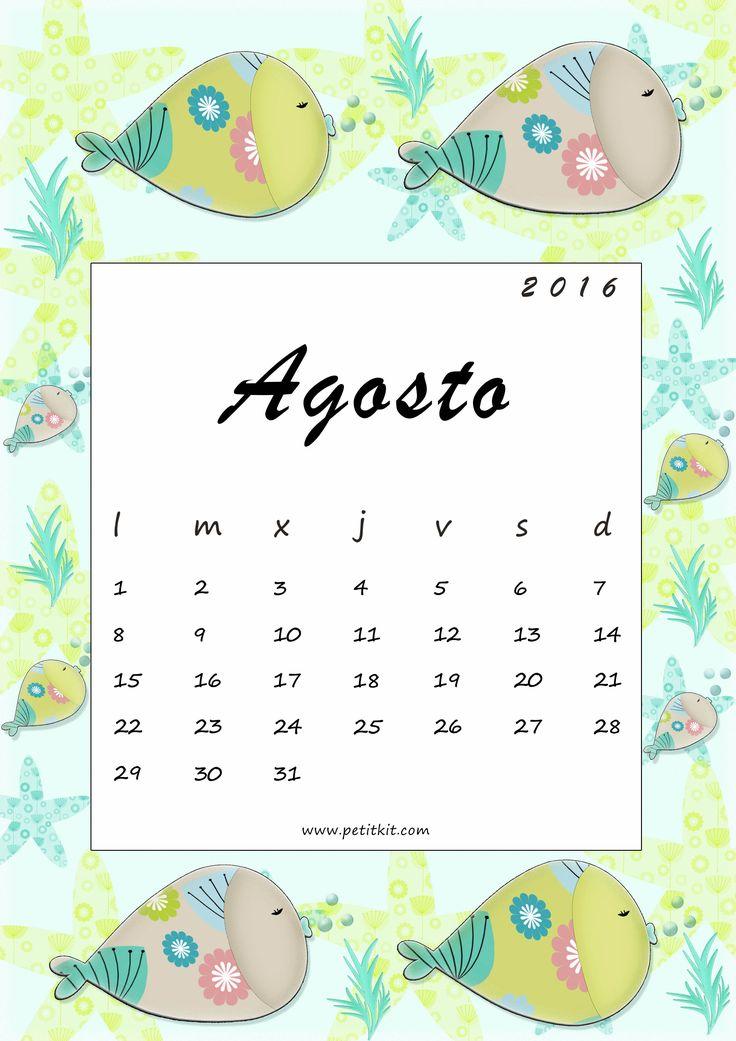 Calendario imprimible mensual fondo de pantalla agosto for Fondo de pantalla calendario 2018