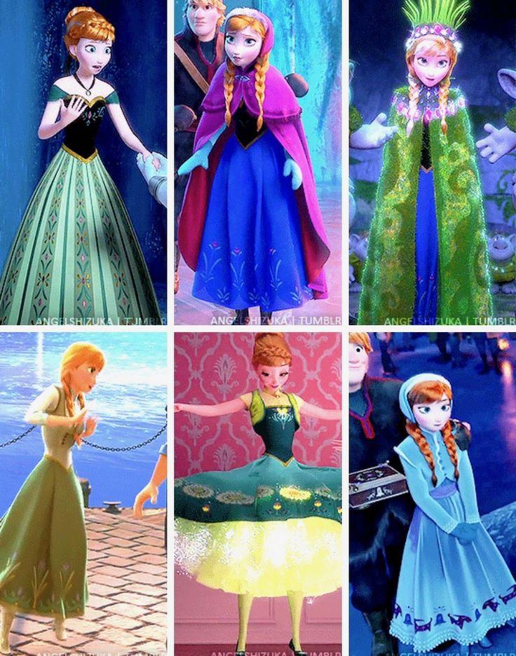 Princess Anna's dresses