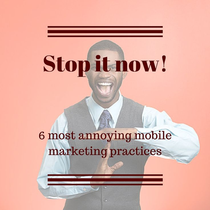 What iritates the most in mobile marketing. Everything you should know [...] #MobileMarketingAutomation #CRMforMobile #annoyingmarketing