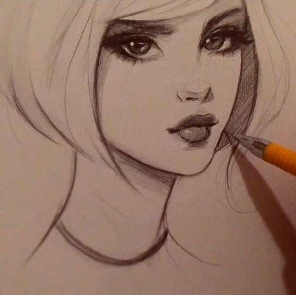 gabbyd70,sketch,pencil,art девушка,красивые картинки