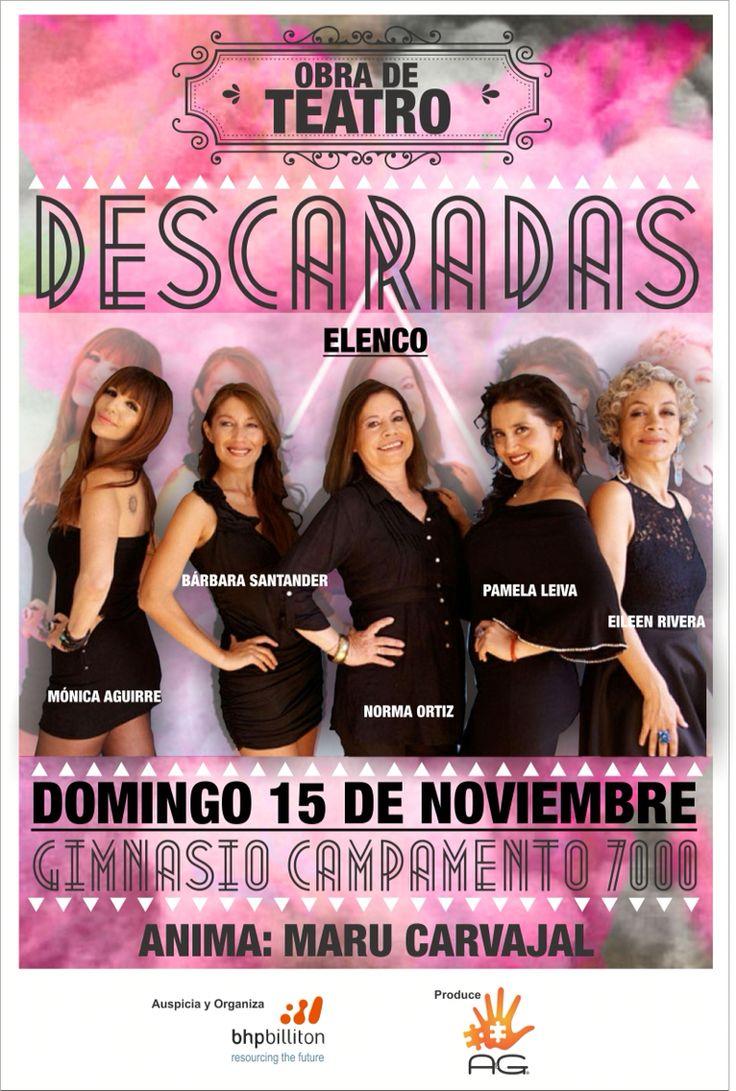 """Afiche """"descaradas"""" 15.11"""