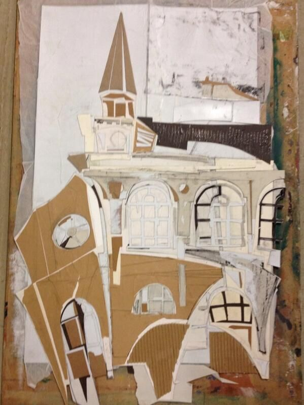 Building collagraph AFBEELDING