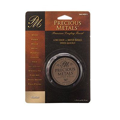 Precious Metal 45511 1.75-Ounce Titanium Metals Premium Leafing Finish, 1-Pack