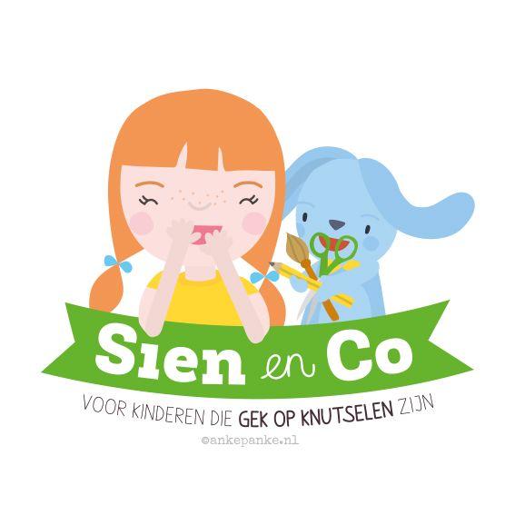 Logo design for Sien en Co (kids craft webshop) by http://ankepanke.nl