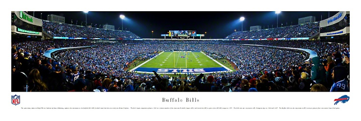 Buffalo Bills Panoramic - Ralph Wilson Stadium Picture $29.95