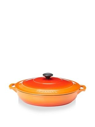 59% OFF Chasseur 3.5 Qt. Double-Enameled Cast Iron Brazier with Lid (Orange Flame)