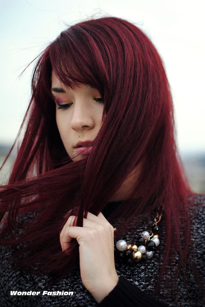 Dark Cherry Red Hair | ve stepped into the dark side