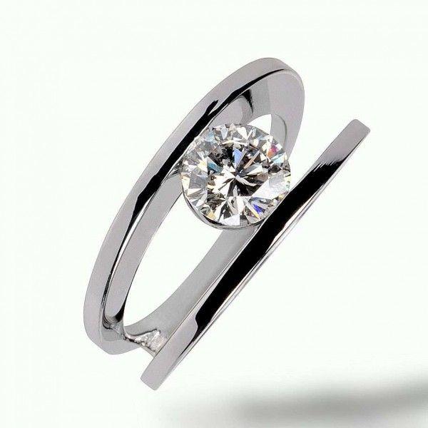 modern Gold Engagement Rings   ... wedding rings > Modern gold and diamond wedding ring Cardamone 1R