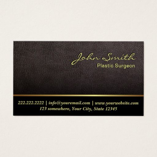195 best plastic surgeon business cards images on pinterest darker leather plastic surgeon business card colourmoves