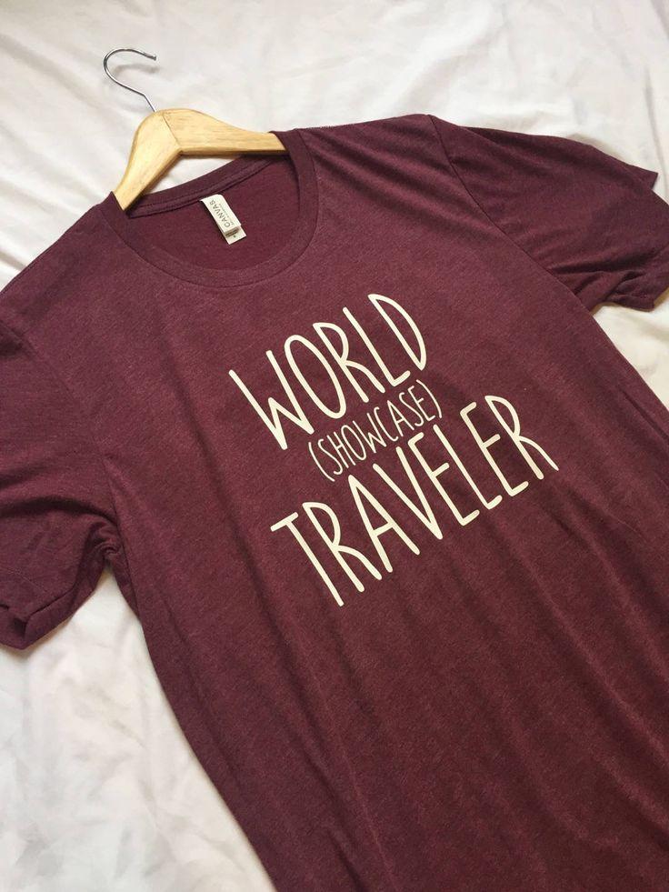 World Showcase Traveler Shirt / Disney Shirt / Epcot Shirt / Men's Disney Shirt / Women's Disney Shirt / Epcot World Showcase / Epcot Center by WonderlandTeesShop on Etsy