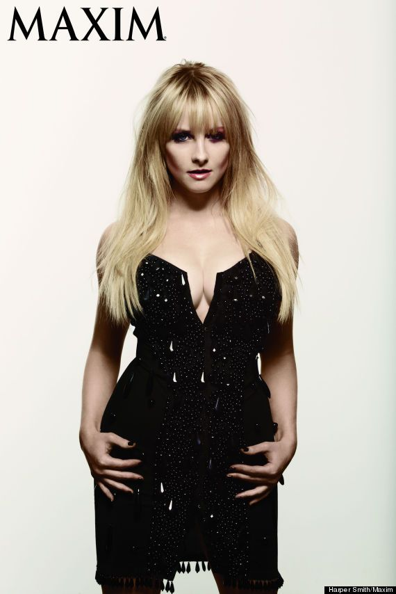 Melissa Rauch - Long blonde hair with bangs
