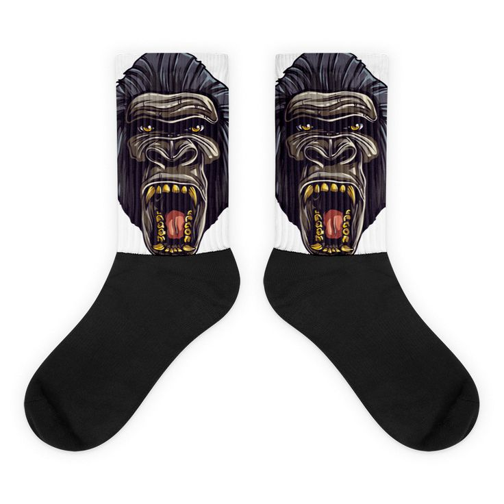Gorilla Strong Black foot socks
