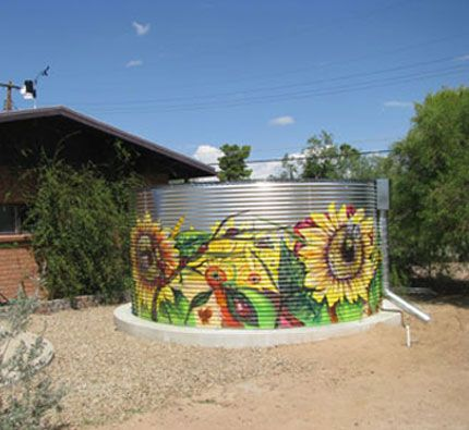 Rainwater Harvesting Systems & Water Tank Photos   Metal Water Tanks