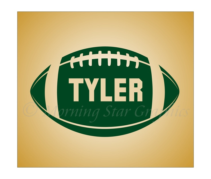 Vinyl decal football personalized with name sports collegiate wall art decal sticker 23 95