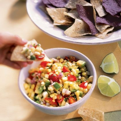 Corn, Avocado, and Tomato Salad from @Spoonful #recipe #oliveoil #corn