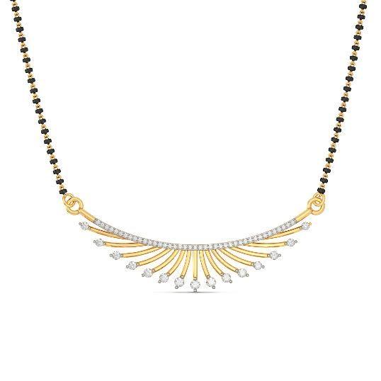 The Aadarshini Tanmaniya | Diamond Tanmaniy In 18Kt Yellow Gold