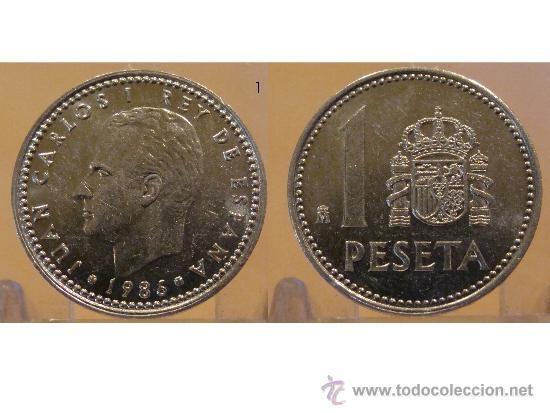 1 PESETA 1986 JUAN CARLOS I MADRID: Gold Silver, 1986 Juan, Silver Coins, World, Dinero Del, Peseta 1986, Juan Carlos
