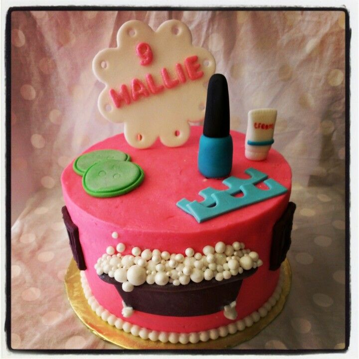 Nail Cakes Bakery: 17 Best Ideas About Spa Birthday Cake On Pinterest