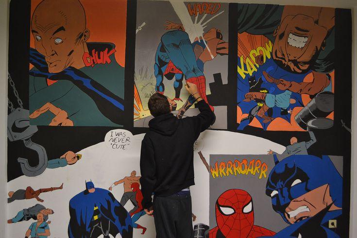 Marvel wall paint.