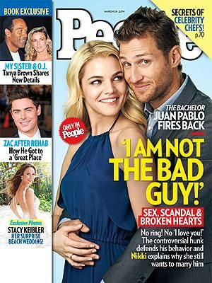 ON NEWSSTANDS 3/14/14: The Bachelor: Juan Pablo fires back. Plus: Zac Efron's life after rehab and more!