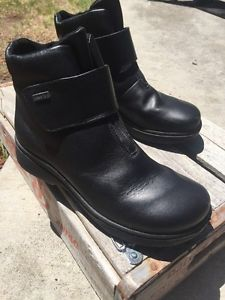 Romika Romi Tex Black Leather Waterproof Ankle Boots Magnetic Closure 37 Mint | eBay