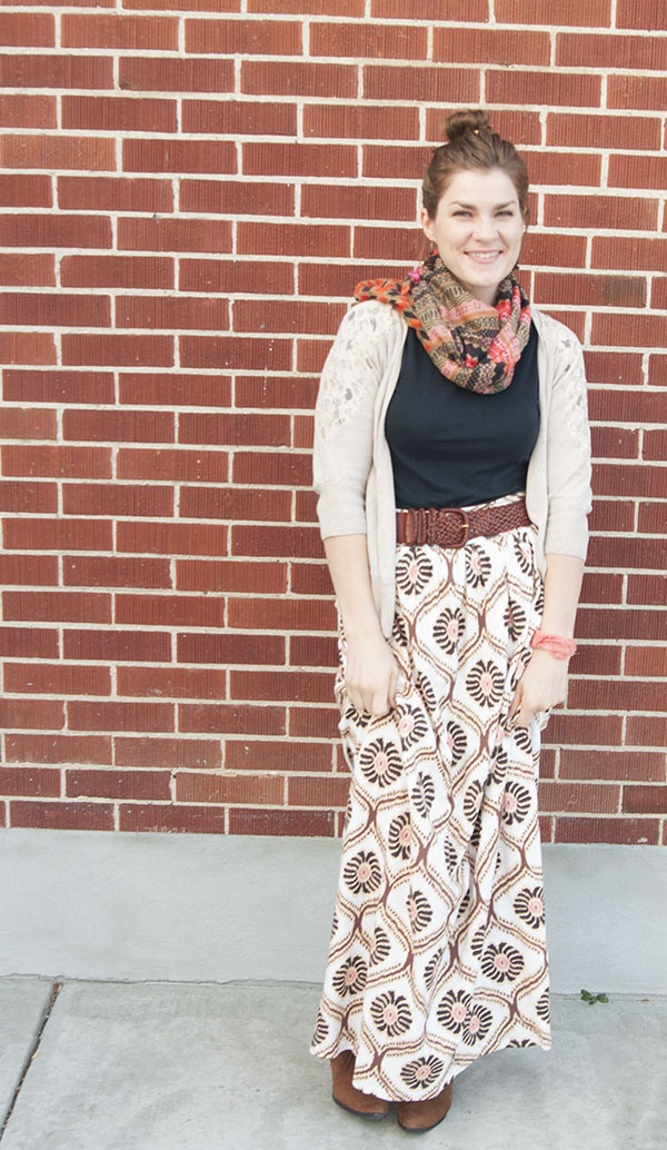 Knit maxi skirts - 2 versions